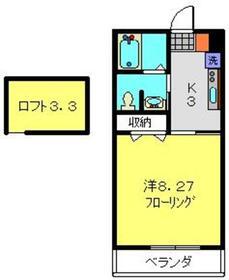 コンコード瀬谷2階Fの間取り画像