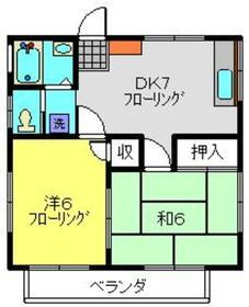 佐藤ハウスC2階Fの間取り画像