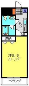 武蔵中原駅 徒歩15分2階Fの間取り画像