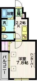 MSKクレスタ2階Fの間取り画像