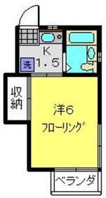 日吉本町駅 徒歩9分2階Fの間取り画像