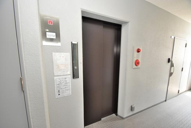U-ro北巽 嬉しい事にエレベーターがあります。重い荷物を持っていても安心