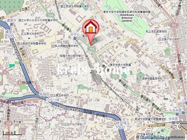 サンモールエイト小石川案内図