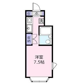 藤間コーポ22階Fの間取り画像