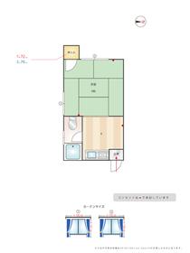 コーポつしま4棟 : 2階間取図