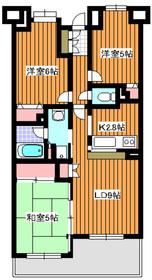 西高島平駅 徒歩8分6階Fの間取り画像