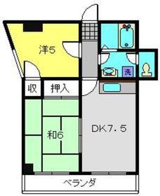 柿田ビル3階Fの間取り画像