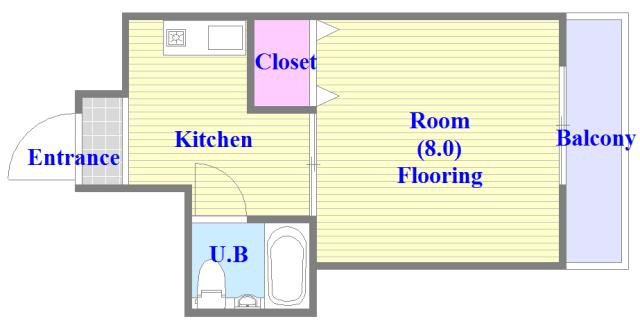 アペックスハイツ・ユニ シンプルな住み心地を実感できる素敵な間取りになってます。