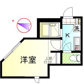 京急富岡駅 徒歩10分2階Fの間取り画像