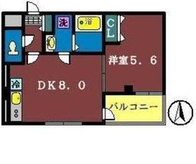 エクセレントコート津田沼1階Fの間取り画像
