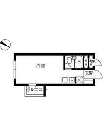 スカイコート西横浜第64階Fの間取り画像