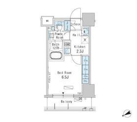 パークアクシス浅草橋二丁目12階Fの間取り画像