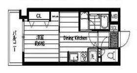 アールケープラザ横浜V1階Fの間取り画像