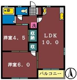 プラザ・シャトーB1階Fの間取り画像