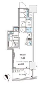 パークナードフィット南青山Vista6階Fの間取り画像