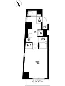 スカイコート芝壱番館12階Fの間取り画像