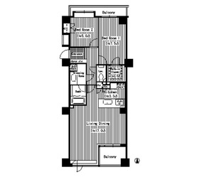 パークサイド・ウイングス11階Fの間取り画像