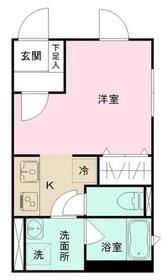 若松河田駅 徒歩5分1階Fの間取り画像