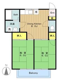 向ヶ丘遊園駅 徒歩29分2階Fの間取り画像