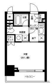 神田駅 徒歩5分2階Fの間取り画像