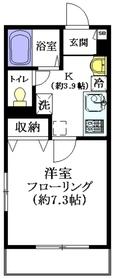 富士見台駅 徒歩12分2階Fの間取り画像