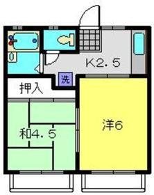 コーポN1階Fの間取り画像