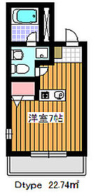 成増駅 徒歩21分2階Fの間取り画像