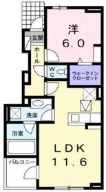 パルティーレ1階Fの間取り画像