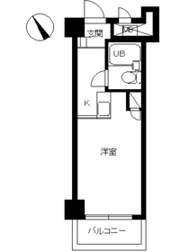 スカイコート横浜山手4階Fの間取り画像