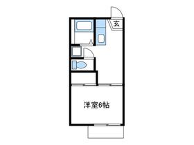 リバレット厚木1階Fの間取り画像