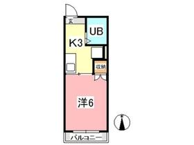 マンションみふねNo81階Fの間取り画像