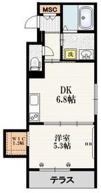 Mervelle oku-ekimae1階Fの間取り画像