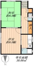 ユニオンハイツ興宮1階Fの間取り画像