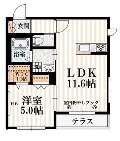 石神井公園駅 徒歩21分1階Fの間取り画像