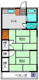 栄ハイツ1階Fの間取り画像