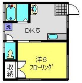 和田町駅 徒歩2分1階Fの間取り画像