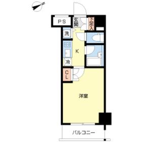 スカイコート品川大崎3階Fの間取り画像