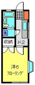 桜ヶ丘エスプリ1階Fの間取り画像