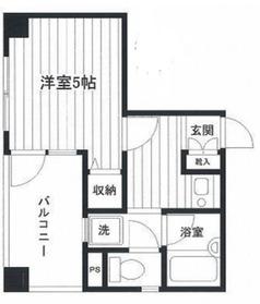 てぃだ横浜4階Fの間取り画像