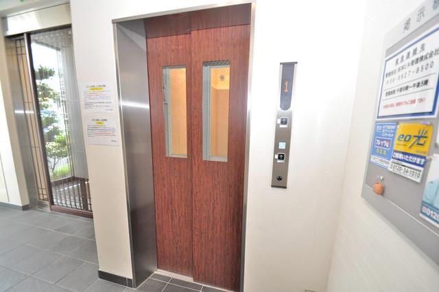 ゼファー東大阪 嬉しい事にエレベーターがあります。重い荷物を持っていても安心