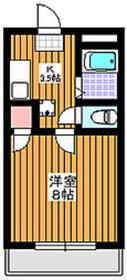 下赤塚駅 徒歩3分2階Fの間取り画像