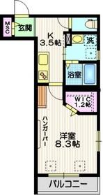 サニーハイツ目黒2階Fの間取り画像