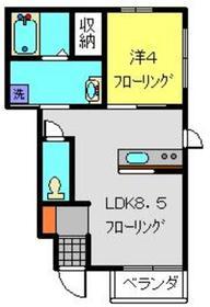 マーレ清風1階Fの間取り画像