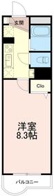 メゾン南多摩3階Fの間取り画像