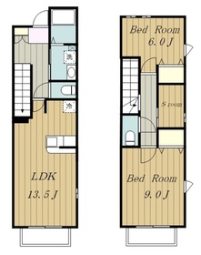 ラ・ヴィダ・カリファス1階Fの間取り画像