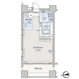 コスモグラシア芝大門2階Fの間取り画像