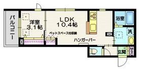 Sakuras 鵜の木 ペット共生3階Fの間取り画像
