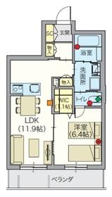 ノアレゾン 武蔵浦和4階Fの間取り画像