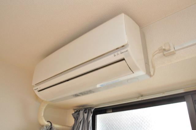 グランドハイツ大今里 エアコンがあるのはうれしいですね。ちょっぴり得した気分。