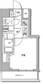 ジェノヴィア川崎駅グリーンヴェール11階Fの間取り画像